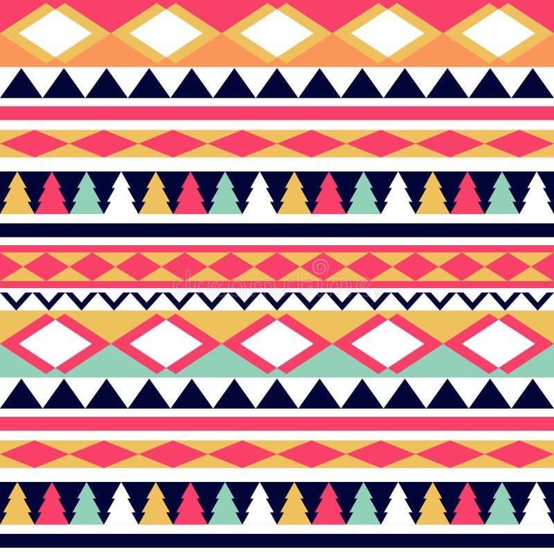 Textura tribal del vector inconsútil Modelo tribal del vector colorido ilustración del vector