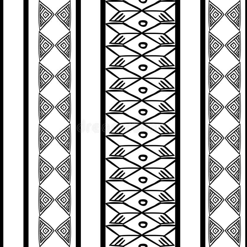 Textura tribal do teste padr?o com o africano tirado m?o, asteca, ilustra??o de tiragem criativa do vetor do maya Testes padr?es  ilustração royalty free