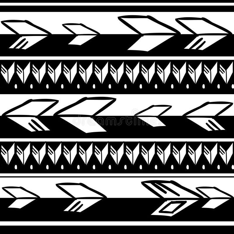 Textura tribal do teste padr?o com o africano tirado m?o, asteca, ilustra??o de tiragem criativa do vetor do maya Testes padr?es  ilustração do vetor