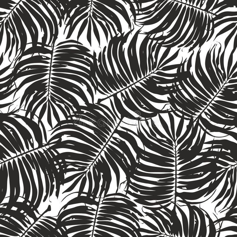 Textura tropical inconsútil del fondo del estampado de flores libre illustration