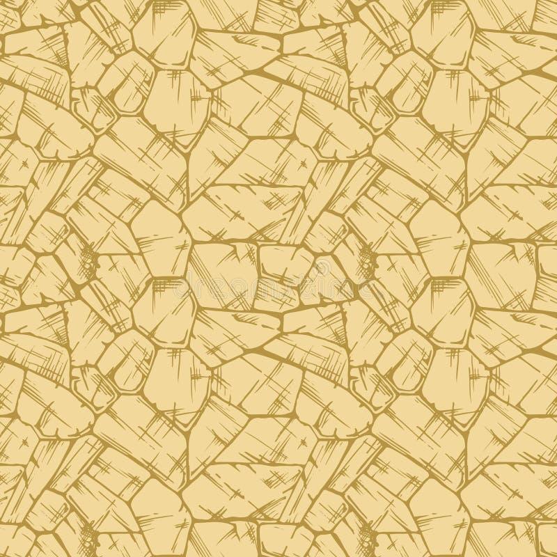 Textura uncoursed poligonal de la pared de piedra ilustración del vector