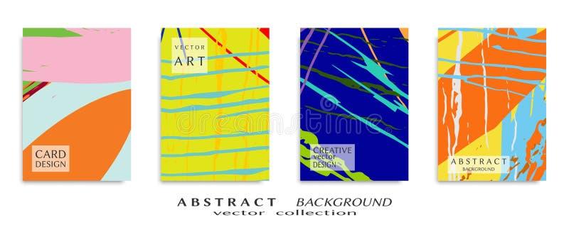 Textura universal abstracta del arte del grunge, movimientos del cepillo, sistema de la hoja a4 imagen de archivo