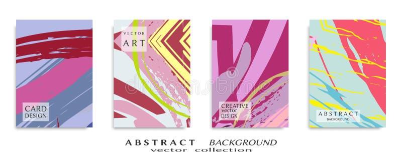 Textura universal abstracta del arte del grunge, movimientos del cepillo, sistema de la hoja a4 fotografía de archivo libre de regalías