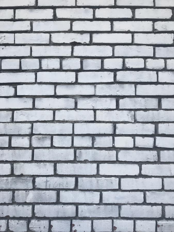 Textura urbana branca suja da cidade da parede de tijolo fotos de stock royalty free