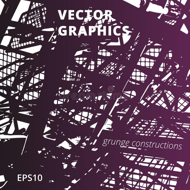 Textura urbana del vector y fondo arquitectónico ilustración del vector