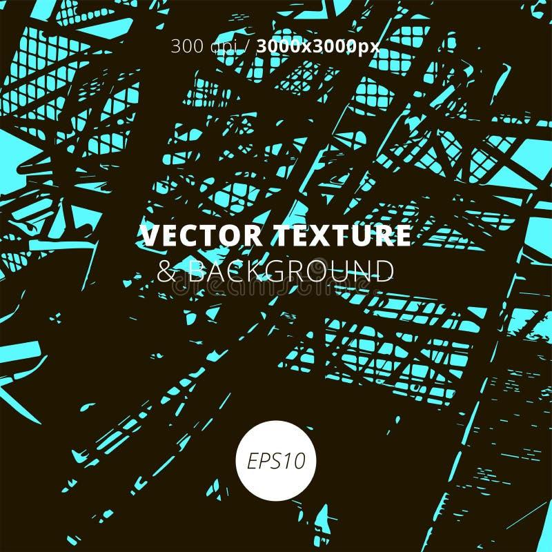 Textura urbana del vector y fondo arquitectónico stock de ilustración
