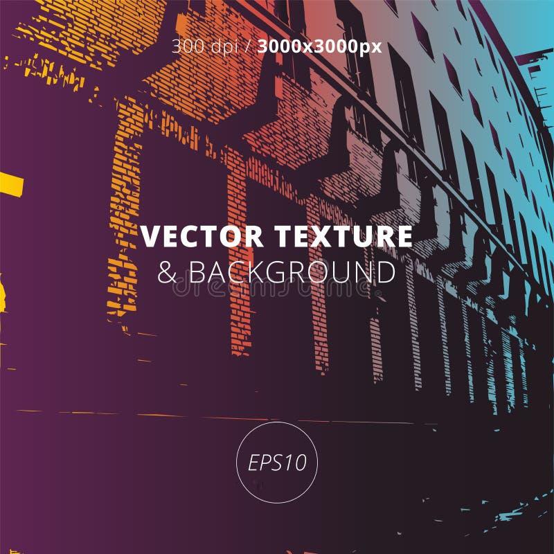 Textura urbana del vector y fondo arquitectónico libre illustration