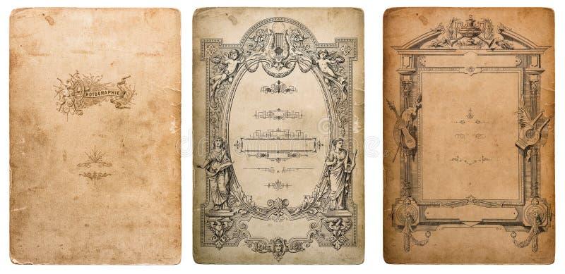 Textura usada de la cartulina de la foto Papel viejo con las capas de los bordes foto de archivo