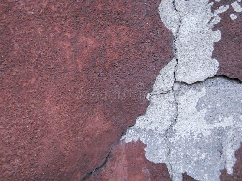 A textura velha da parede, cimento vermelho, pode ser usada como a decoração imagem de stock