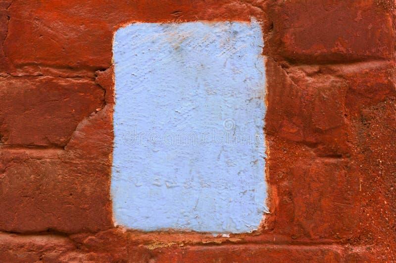 Textura velha da parede de tijolo do vintage com copyspace imagens de stock