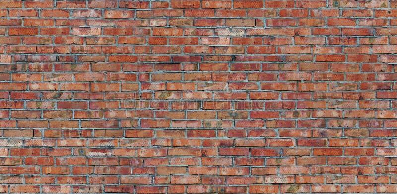 Textura velha da parede de tijolo vermelho do teste padrão sem emenda foto de stock royalty free