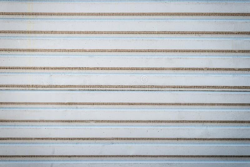 Textura velha da parede ou fundo velho da textura do metal parede de aço horizontal com teste padrão para o projeto Grande para s imagens de stock
