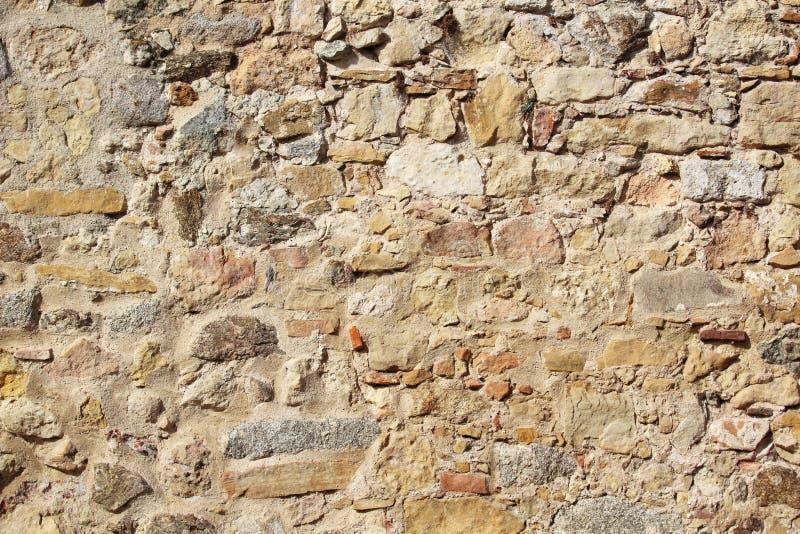 Textura velha da pedra da parede, Segovia, Espanha foto de stock