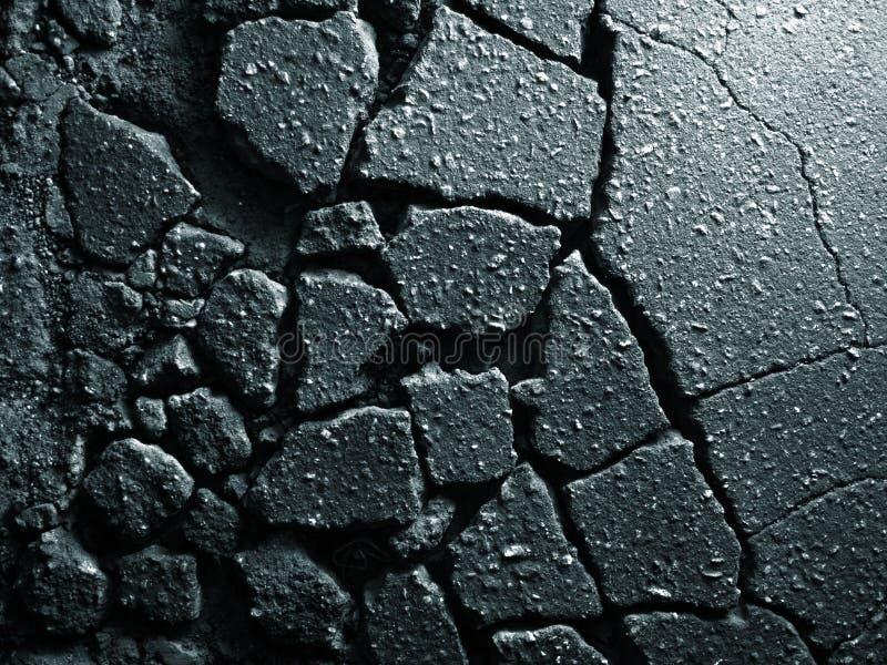 Textura velha do asfalto fotografia de stock royalty free