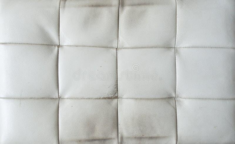 Textura velha do couro branco fotos de stock