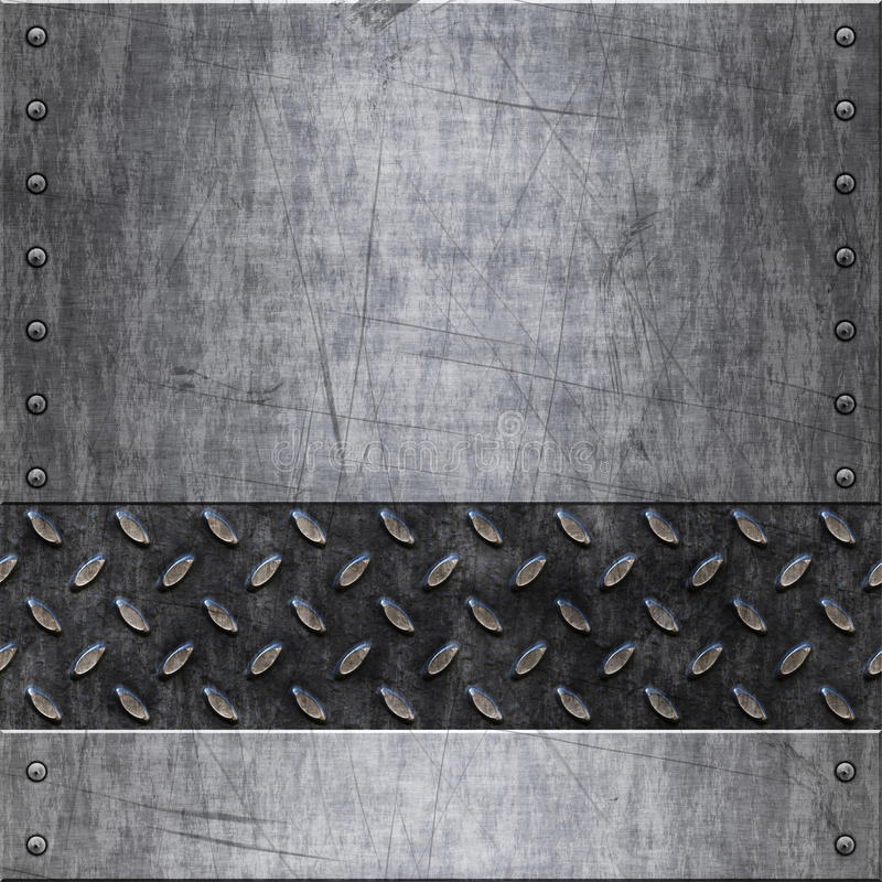 Textura velha do fundo do metal ilustração royalty free