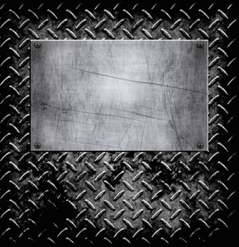 Textura velha do fundo do metal ilustração stock