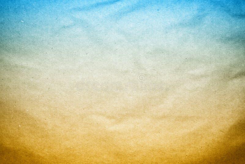 Textura velha do papel de fundo de Brown azul imagens de stock royalty free
