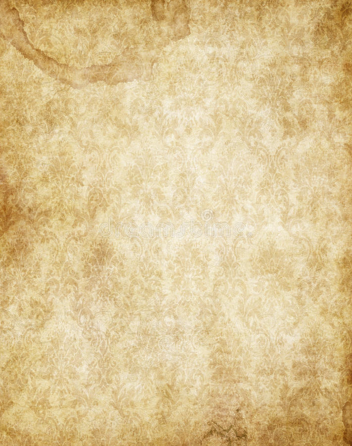 Textura velha do papel de pergaminho do vintage do marrom amarelo ilustração do vetor