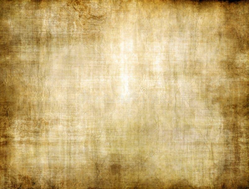 Textura velha do papel de pergaminho do vintage do marrom amarelo ilustração royalty free