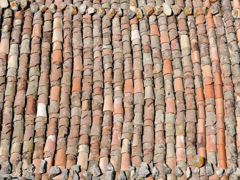 Textura velha do telhado de telha imagem de stock royalty free