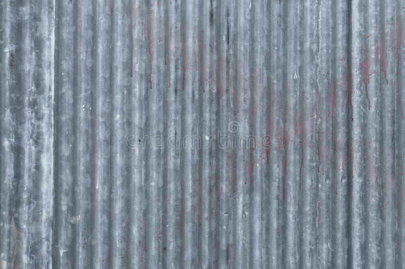 A textura velha do zinco galvanizou a textura do sumário do metal do grunge imagem de stock