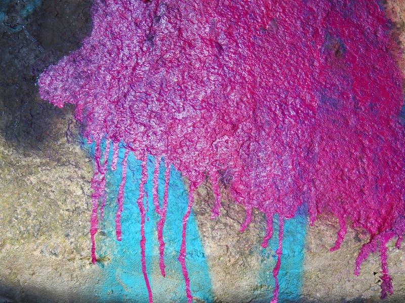 Textura velha pintada da superfície da parede, Lituânia imagem de stock royalty free