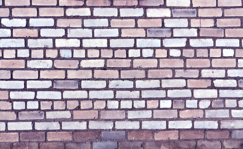 Textura velha tonificada azul da parede de tijolo fotografia de stock royalty free
