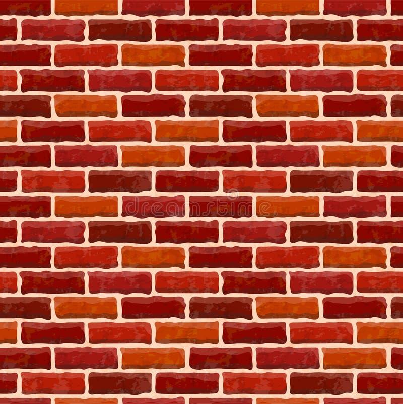 Textura velha vermelha da parede de tijolo Fundo de pedra sem emenda do vintage Ilustra??o do vetor ilustração do vetor