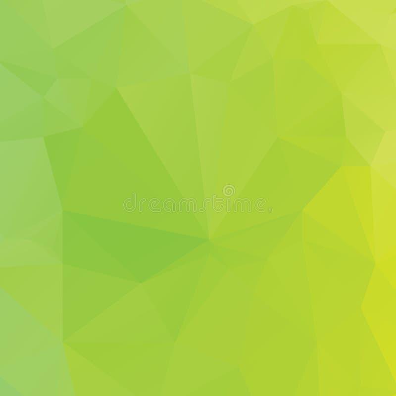 Textura verde abstracta del polígono ilustración del vector