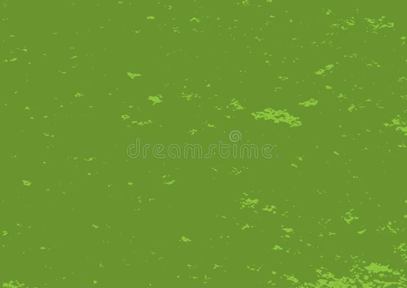 Textura verde afligida Fundo abstrato retangular do grunge ilustração royalty free