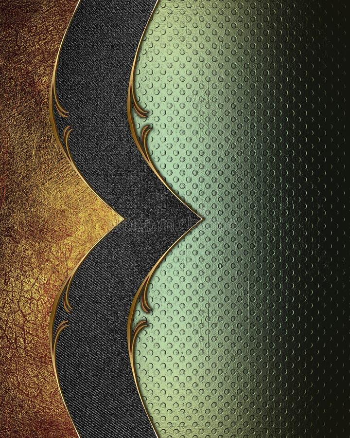 Textura verde con el modelo negro y el borde rojo Plantilla para el diseño copie el espacio para el folleto o la invitación del a ilustración del vector