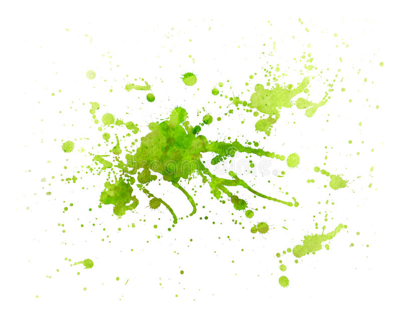 Textura verde da pintura com respingo ilustração do vetor
