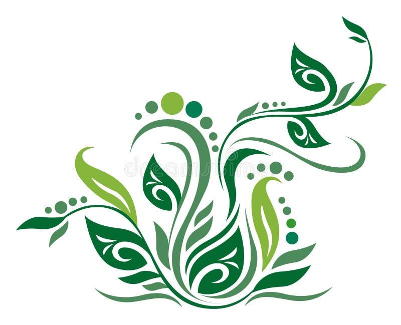 Textura verde de la flor stock de ilustración