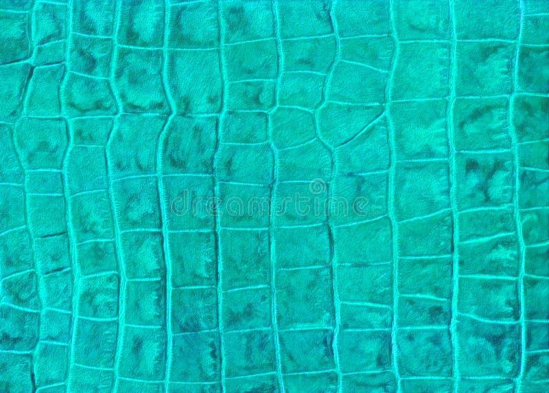 Textura verde de la imitación del cuero del reptil imagen de archivo