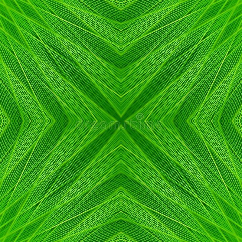 Textura verde de las fibras del extracto simétrico inconsútil del modelo fotos de archivo