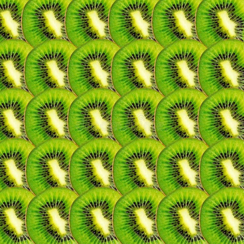 Textura verde de las rebanadas de la fruta de kiwi fotografía de archivo