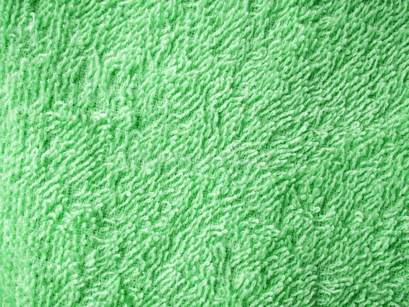Textura verde de toalha imagem de stock