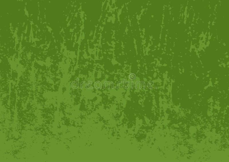 Textura verde do grunge Superfície colorida gasto Fundo envelhecido horizontal retangular ilustração stock