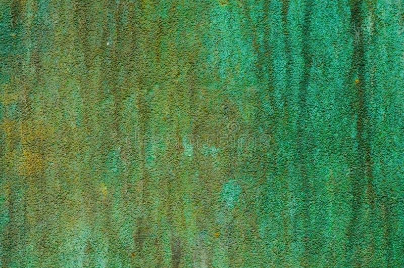 Textura verde do metal da pátina imagens de stock