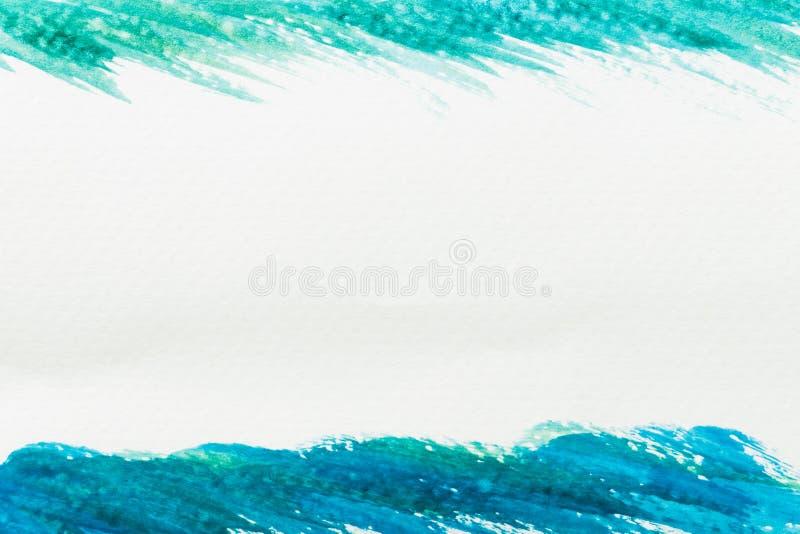 Textura verde e azul abstrata da aquarela imagem de stock royalty free