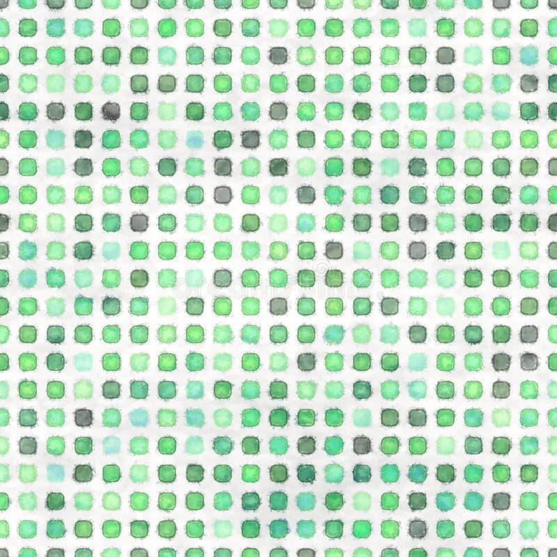 Textura verde inconsútil con los puntos stock de ilustración