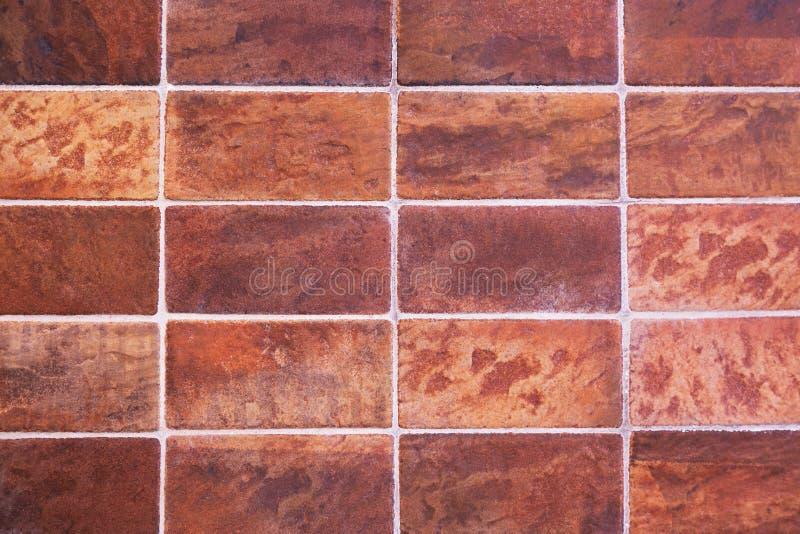 Textura vermelha clássica da parede da telha para o interior e o projeto fotos de stock royalty free