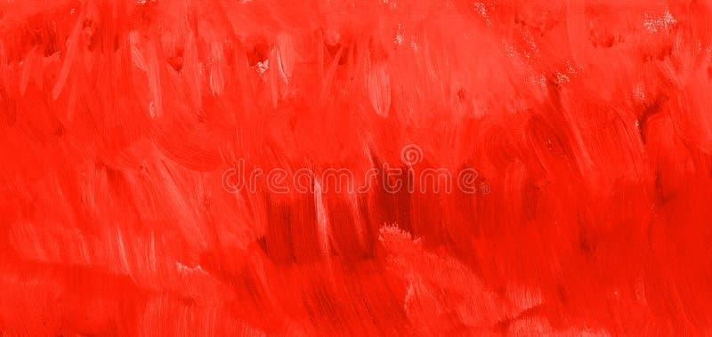 Textura vermelha da pintura do sangue Fundo tirado mão fotografia de stock royalty free