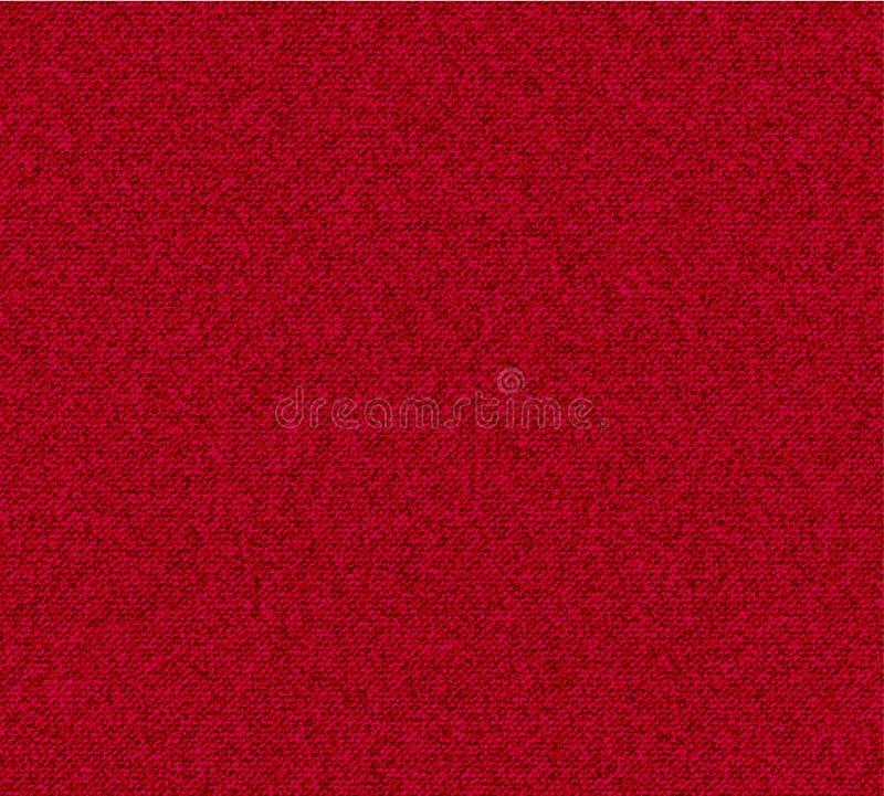 Textura vermelha da sarja de Nimes ilustração stock