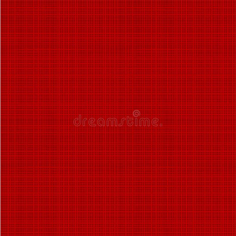 Textura vermelha da tela do Natal ilustração stock