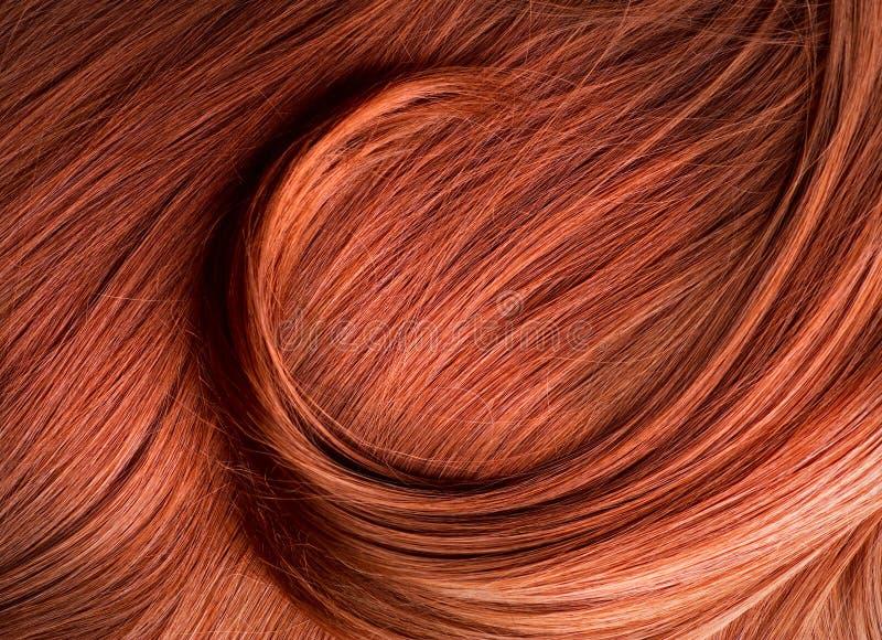 Textura vermelha do cabelo fotografia de stock