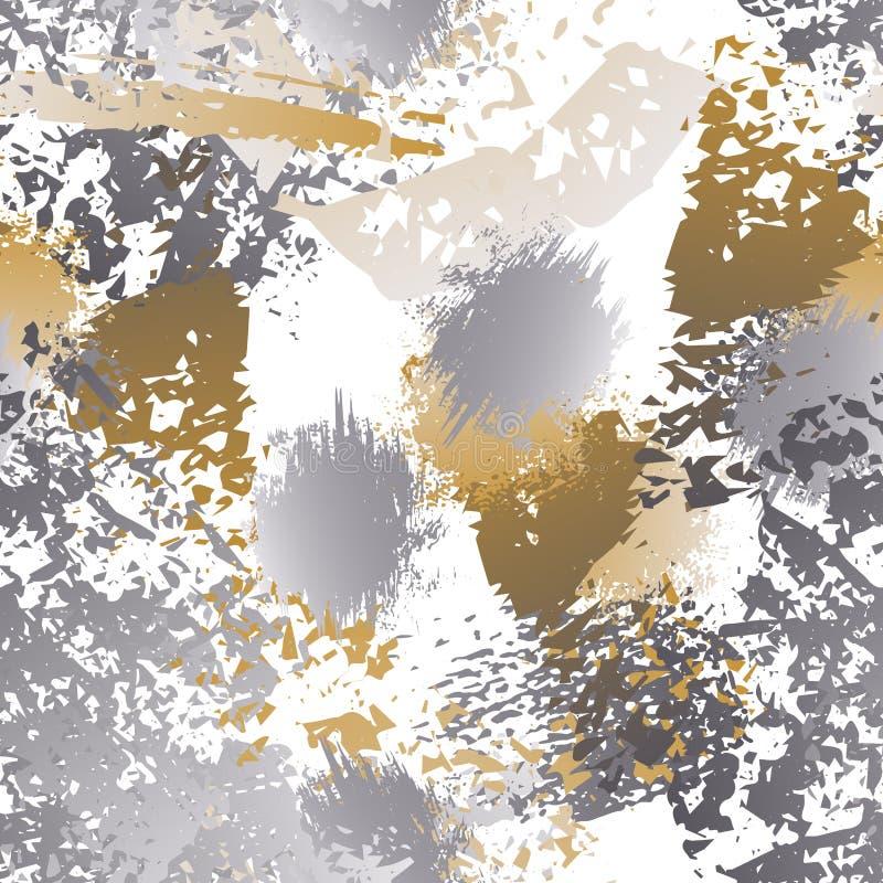 A textura vestida chapinha a superfície Pinte infinito ilustração royalty free