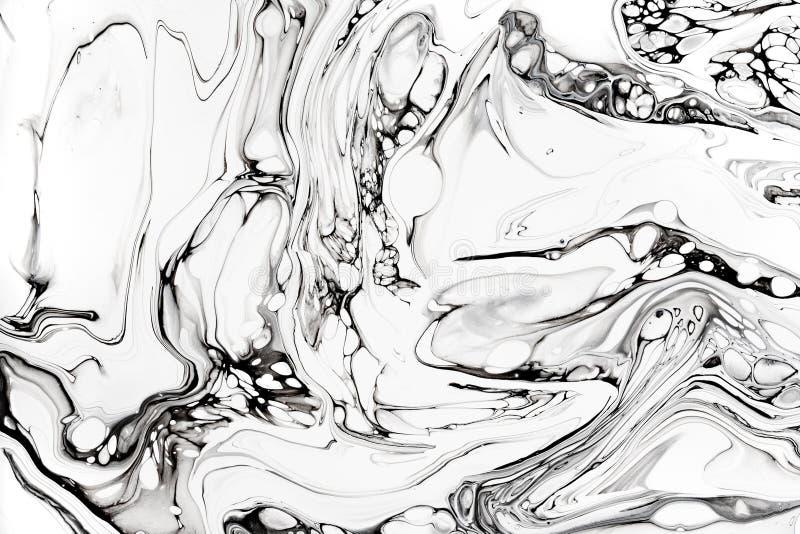 Textura veteada flúida de la tinta del extracto Granito lujoso, papel pintado mineral de mármol del modelo imagen de archivo libre de regalías
