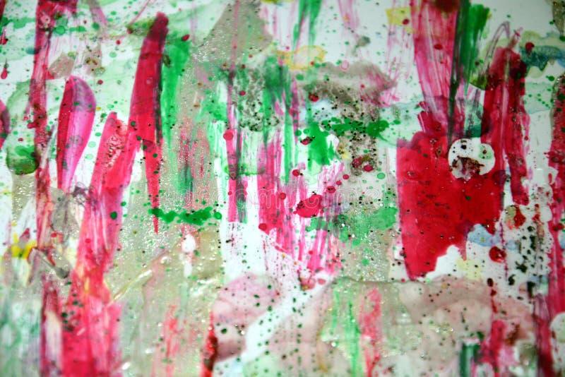 A textura violeta de prata da pintura, cores cerosos vívidas, contrasta o fundo criativo fotografia de stock